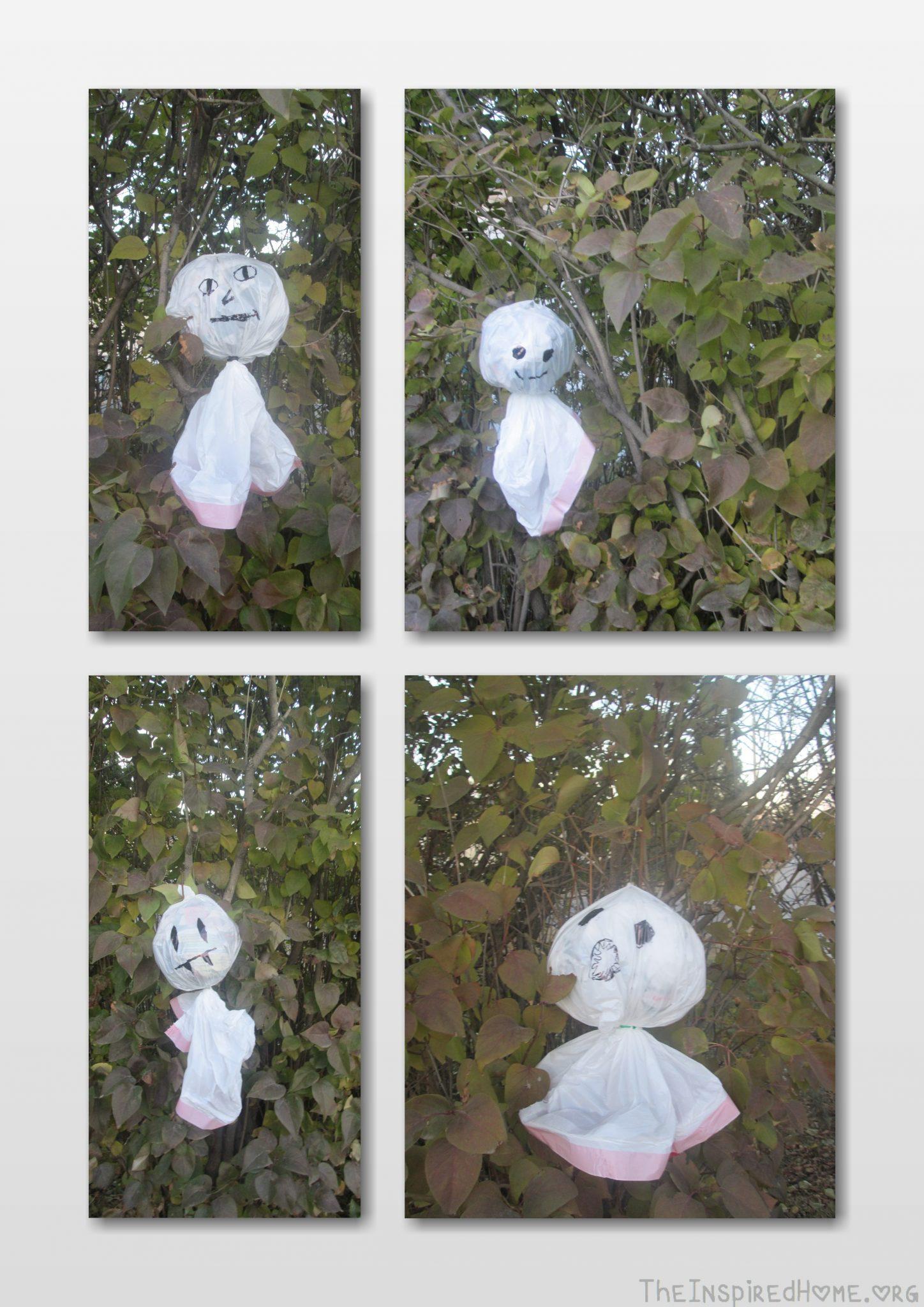 org diy halloween decorations outdoor ghosts