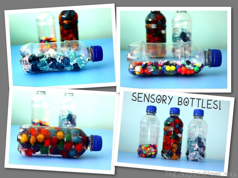 Sensory Bottle Collage