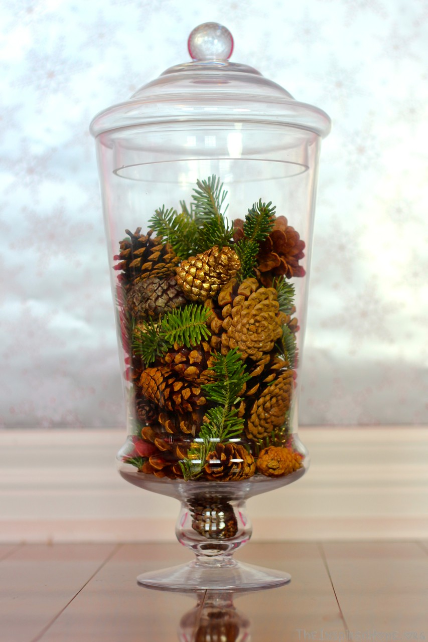 6 holiday vase fillers the inspired home pinecone vase filler floridaeventfo Images