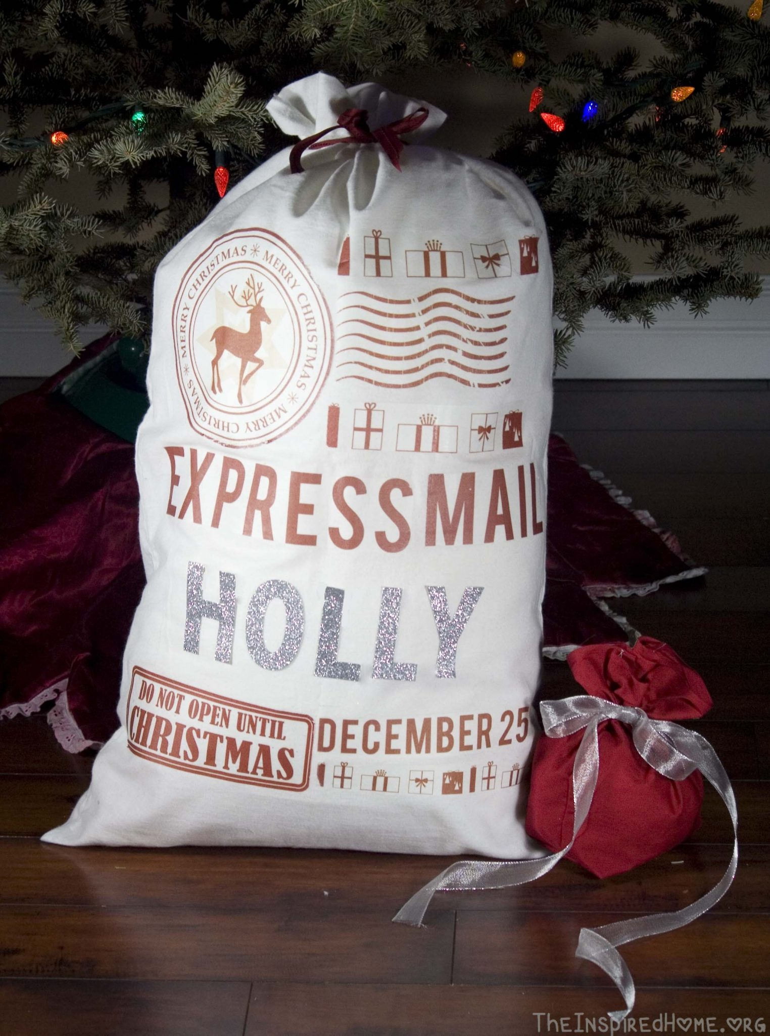 Diy Gifts Santa Sack Two Ways The Inspired Home