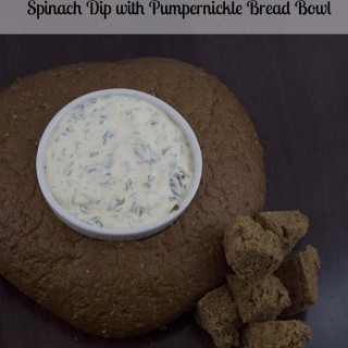 Easy Appetizers: Spinach Dip with Pumpernickel Bread Bowl