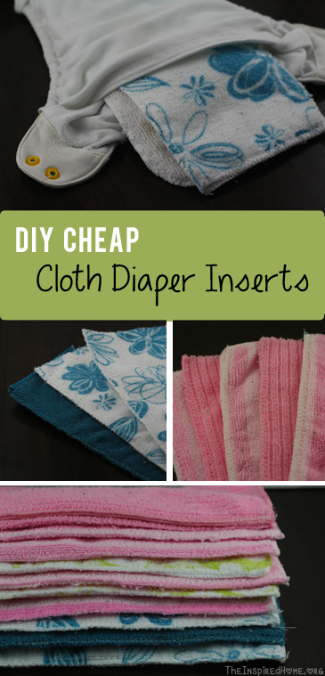 DIY Cheap Cloth Diaper Inserts sm