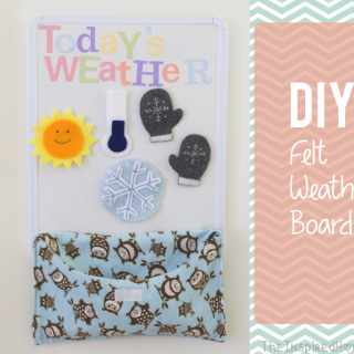 DIY Felt Weather Board with FREE Printable Weather Shapes