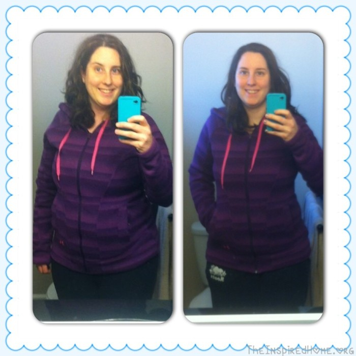 Hols Healthy Habits, Mirror Comparison 2 months, Lose Weight Goal