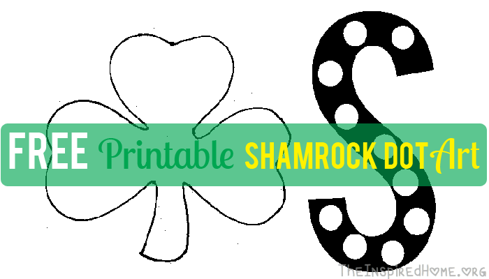 Shamrock Dot Art with FREE Printable  The Inspired Home