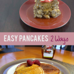 TheInspiredHome.org // Looking to spruce up that boxed pancake mix? Check out easy pancakes: either raspberry pancakes and apple cinnamon gluten-free pancakes!