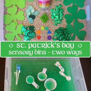 St. Patrick's Day Sensory Bin 2 Ways