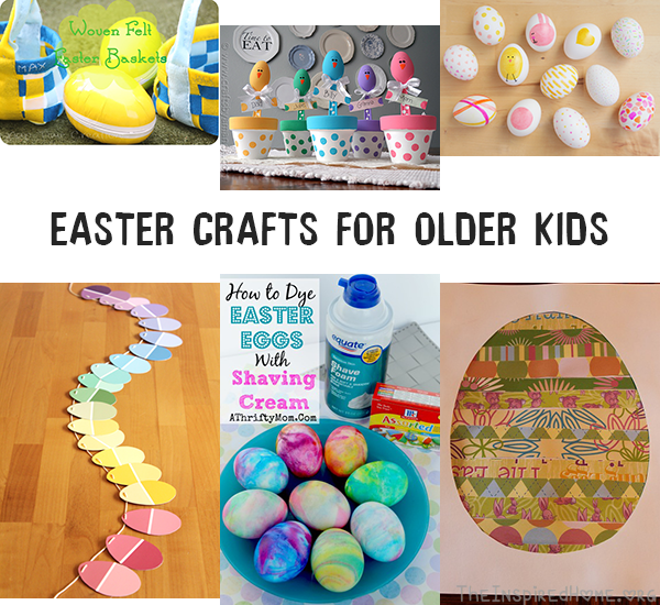 TheInspiredHome.org // Easter Crafts for Older Kids including woven baskets, sharpie eggs and spoon placeholders.