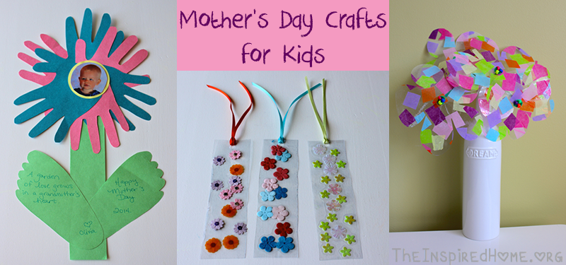 TheInspiredHomeorg Mothers Day Crafts For Kids Including Contact Paper Flowers Hand