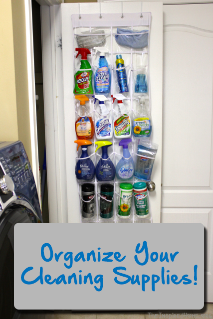 TheInspiredHome.org // How To Organize Your Cleaning Supplies By Using A Plastic  Shoe