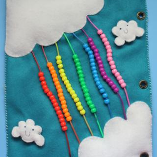 Quiet Book: Rainbow Bead Page