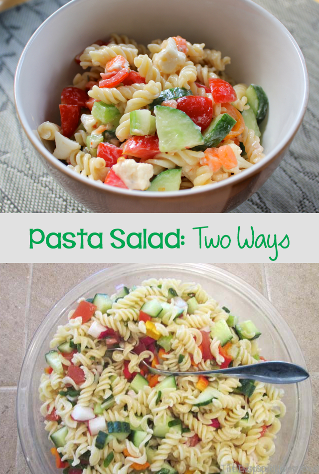 TheInspiredHome.org // Pasta Salad: Two Ways. Gluten-Free Pasta Salad & Simple Pasta Salad with Goat Cheese