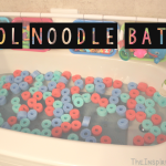TheInspiredHome.org // Let your kids have a blast in a bathtub filled with cut-up pool noodles! Great for any age from baby to toddler to big kid. They can be used in so many creative ways!