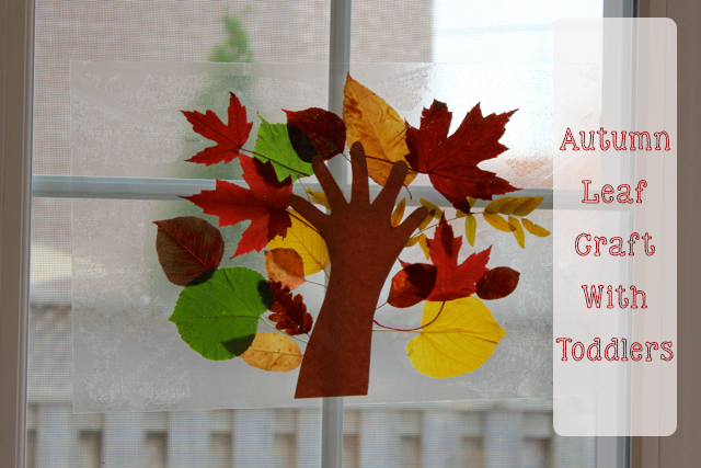 TheInspiredHomeorg Autumn Leaf Craft With Toddlers Make A Stained Glass Tree