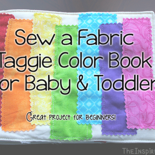 DIY: Sew a Fabric Color Book for Baby & Toddler