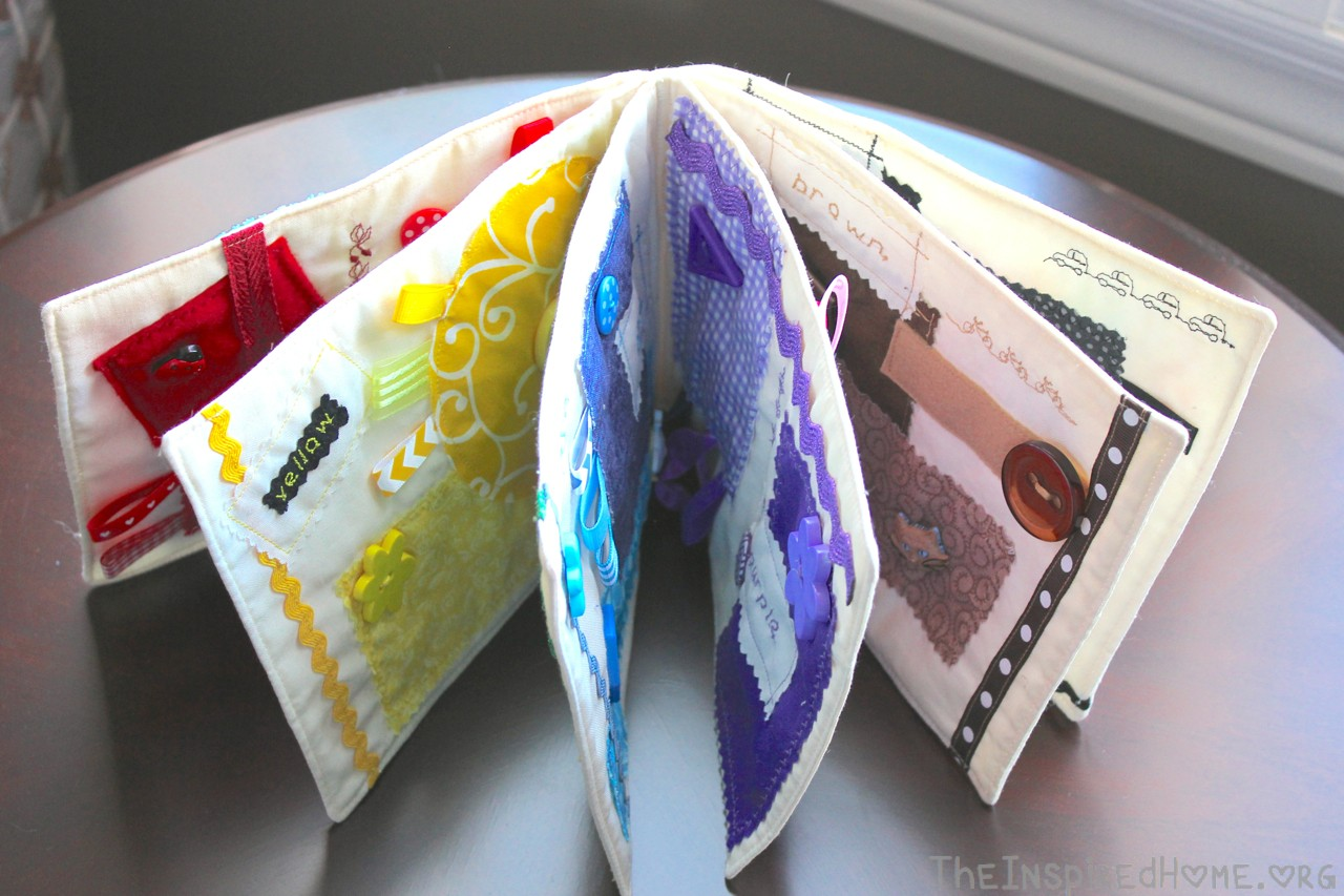 theinspiredhomeorg diy sew a fabric color taggie book for your baby - Color Book For Toddler
