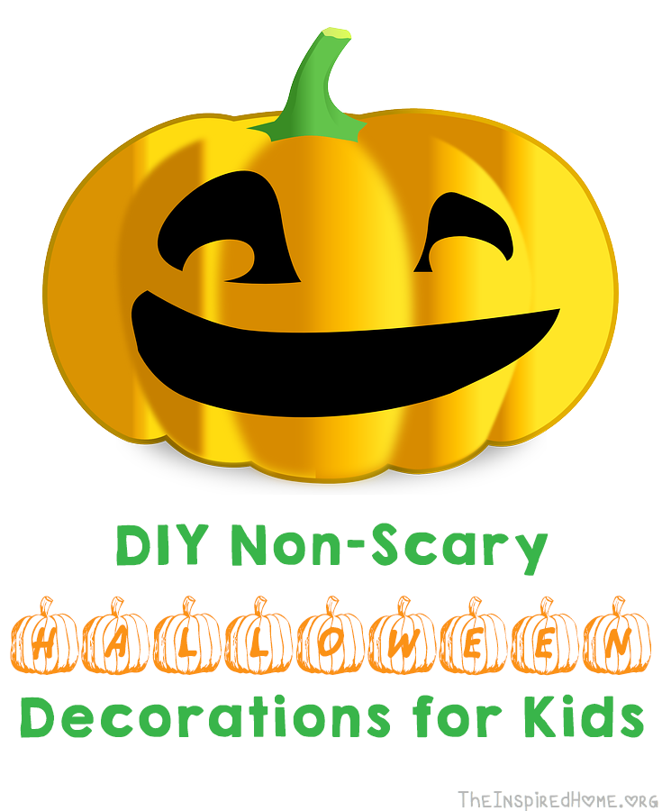 TheInspiredHome.org // Non Scary Halloween Decorations You Can Make With  Your Kids