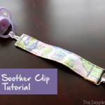 TheInspiredHome.org // DIY Baby Soother Clip Tutorial. This simple pacifier clip is a great beginner project to make for the new mom. The elastic style makes it work with all types of soothers.