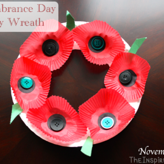 Remembrance Day Poppy Wreath Craft