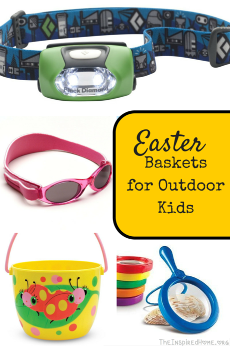 TheInspiredHome.org // 23 ideas for Easter Baskets for Outdoor Kids