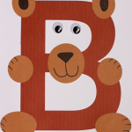 TheInspiredHome.org // B is for Bear alphabet craft using a Cricut or cut by hand.
