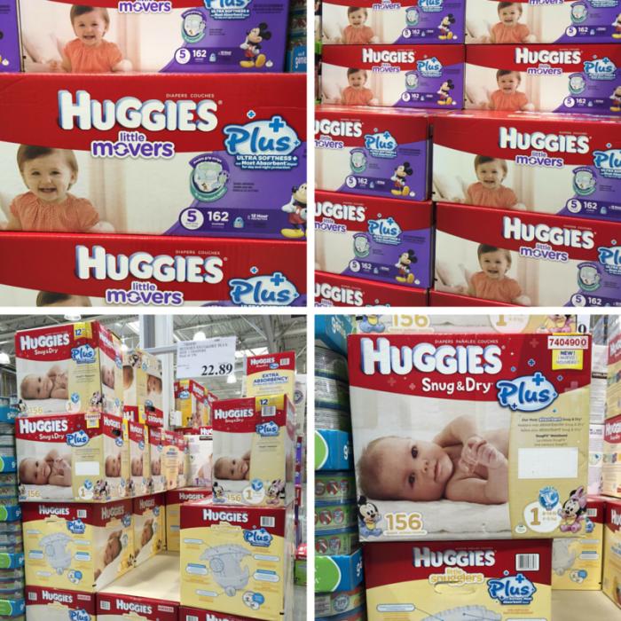 Huggies SnugDryPlus LittleMoversPlus at Costco