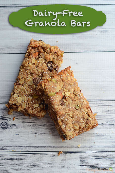 TheInspiredHome.org // Dairy-free chewy granola bars. Can be altered to be nut and tree nut free.