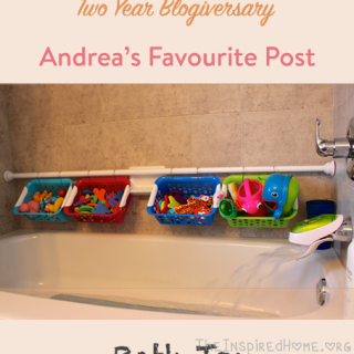 Bath Toy Organization – Andrea's Favourite Post on our Two Year Blogiversary