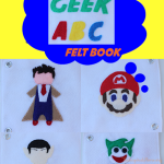 TheInspiredHome.org // Make your own DIY geek ABC felt quiet book