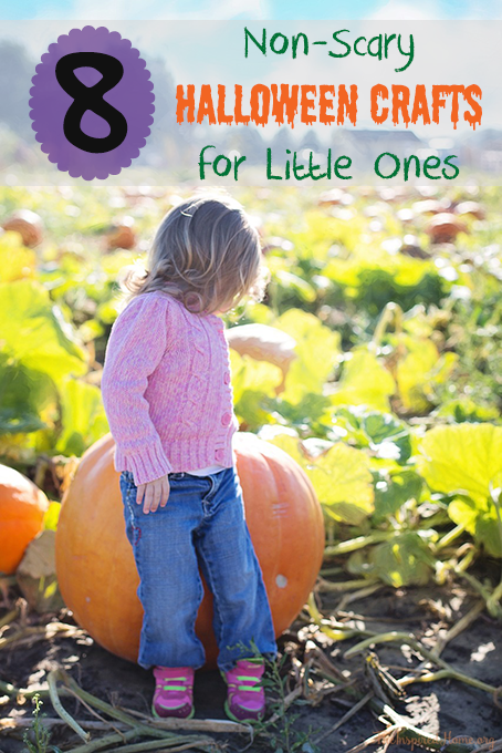 theinspiredhomeorg 8 non scary halloween crafts for kids perfect for - Scary Halloween Crafts