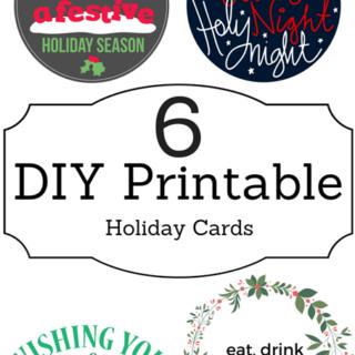 6 DIY Printable Holiday Cards