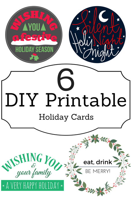 TheInspiredHome.org // 6 DIY Printable Holiday Cards