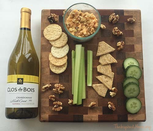 Walnut Cheese Ball with Cheeseboard