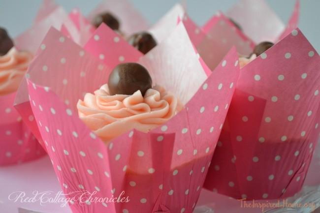 Valentine's Day Chocolate Cherry Cupcake recipe