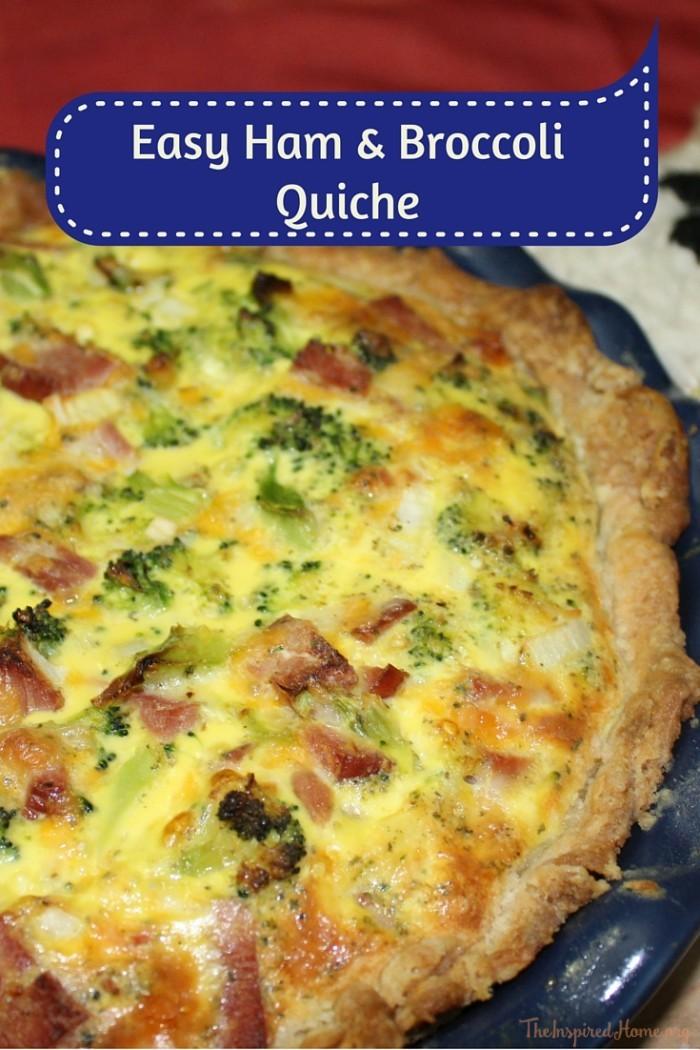 Easy Ham and Broccoli Quiche