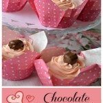 Valentine's Day Chocolate Cherry Cupcakes