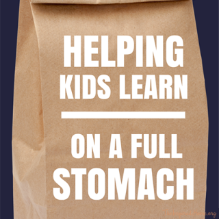 Helping Kids Learn on a Full Stomach #FeedItForward {Giveaway}