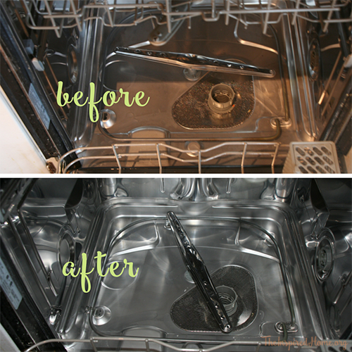 before and after dishwasher