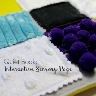 Quiet Book: Interactive Sensory Page
