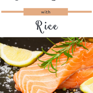 Cilantro Salmon with Rice