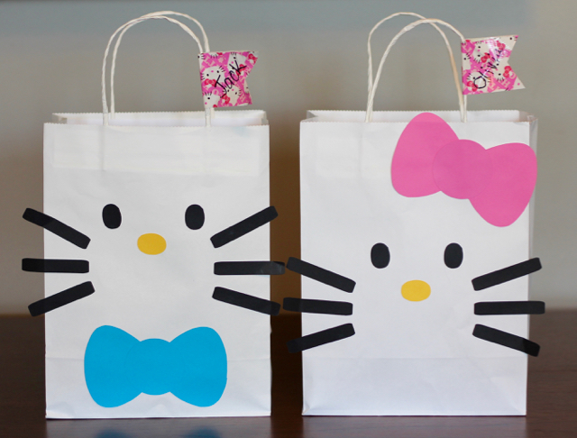 TheInspiredHome.org // Hello Kitty Birthday Party Loot Bags
