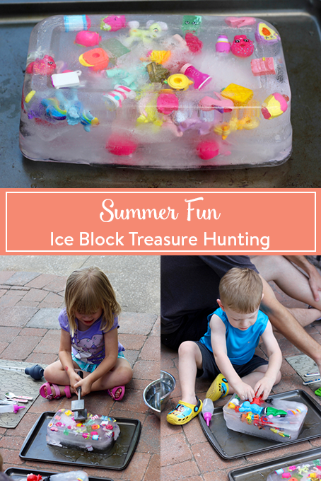TheInspiredHome.org // Summer Fun: Ice Block Treasure Hunting. A great summer activity for kids of all ages to beat the summer heat.
