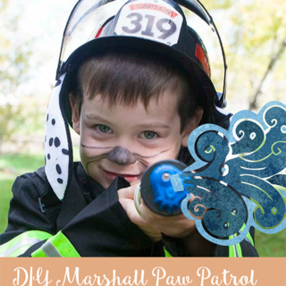DIY Marshall Paw Patrol Costume with Fire Squirter