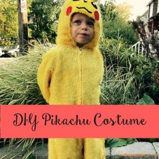 DIY Pikachu Pokémon Costume
