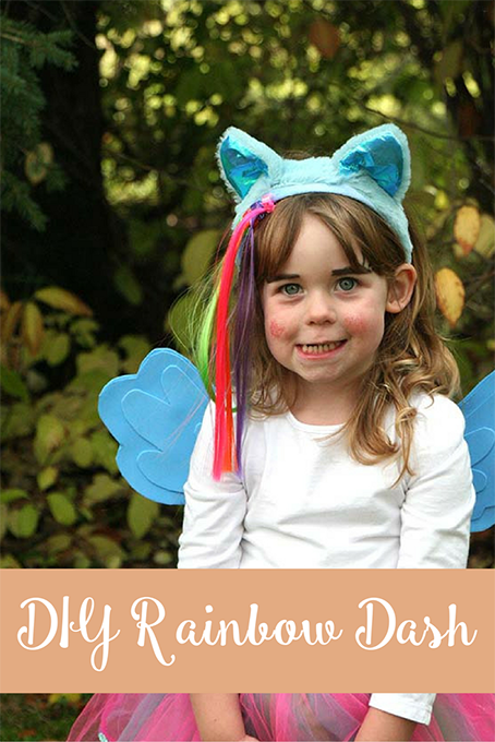 TheInspiredHome.org // DIY Rainbow Dash Costume with Homemade Wings. Connect with your Canadian costume concierge to source all things Rainbow Dash & My Little Pony.