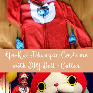Yo-Kai Jibanyan Costume with DIY Bell + Collar