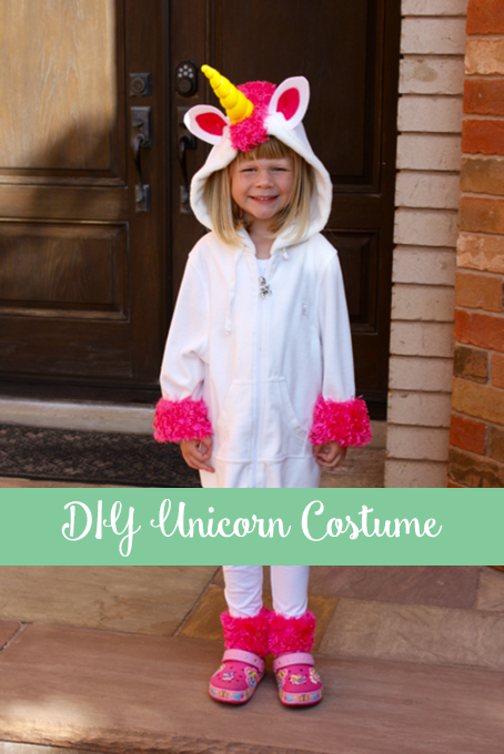 TheInspiredHome.org // DIY Fluffy Unicorn Costume - Despicable Me