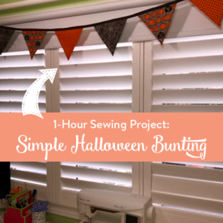 Simple 1-Hour Halloween Bunting