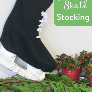 DIY Hockey Skate Stocking