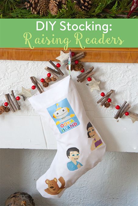 TheInspiredHome.org // Raising Readers Stocking perfect for the Ooka Island fan.